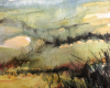 'Mist descending' mixed media 25x30cm