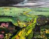 'View from Rodborough Common V' mixed media 30x35cm